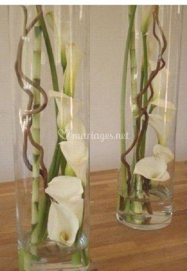 Vase Arum bois