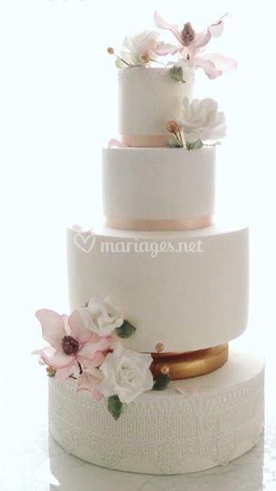 Wedding cake aérien