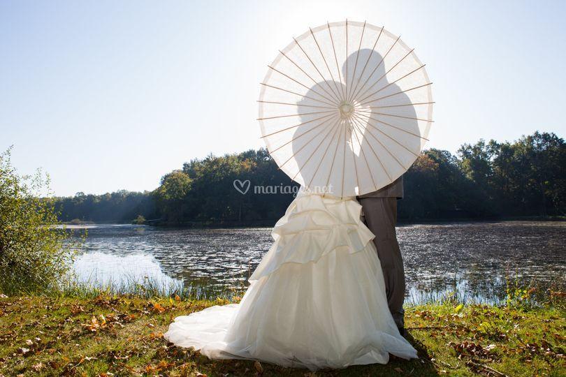 Lac et ombrelle