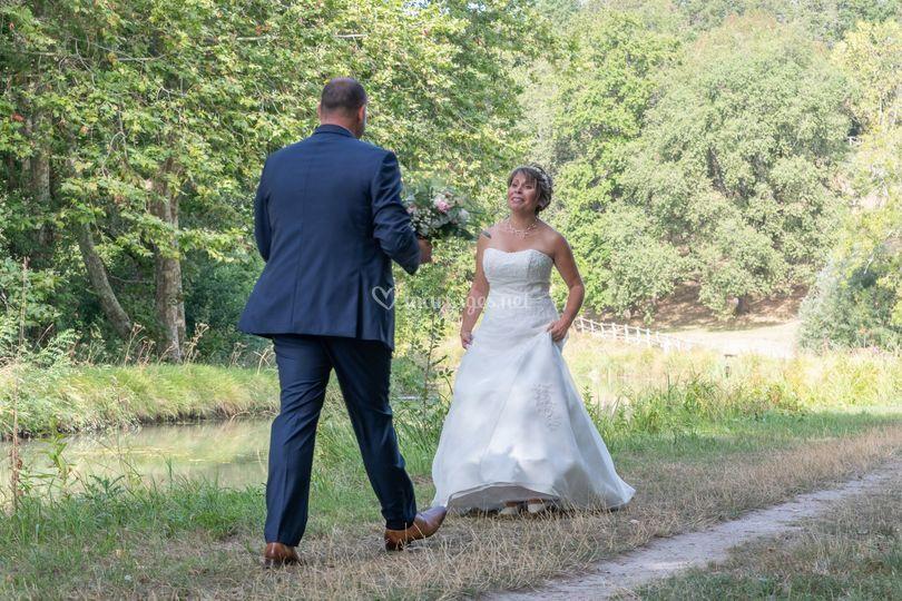 Découverte de la robe la mariée