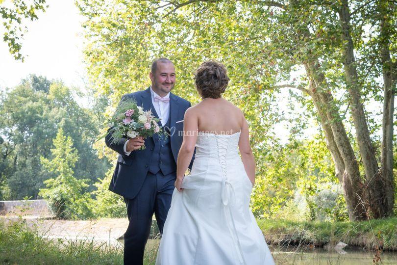 Découverte de la robe le marié