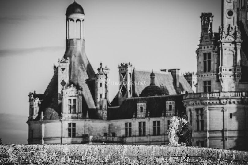 Les mariés à Chambord