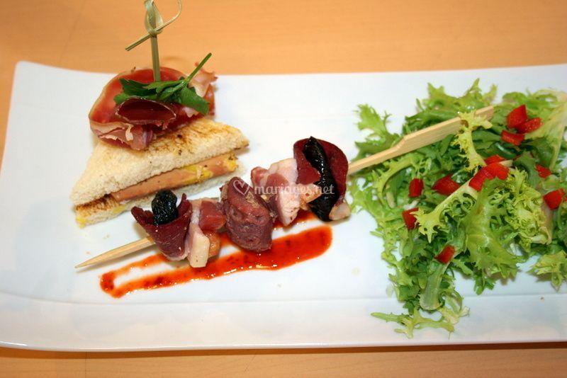Assiette du gaveur foie gras
