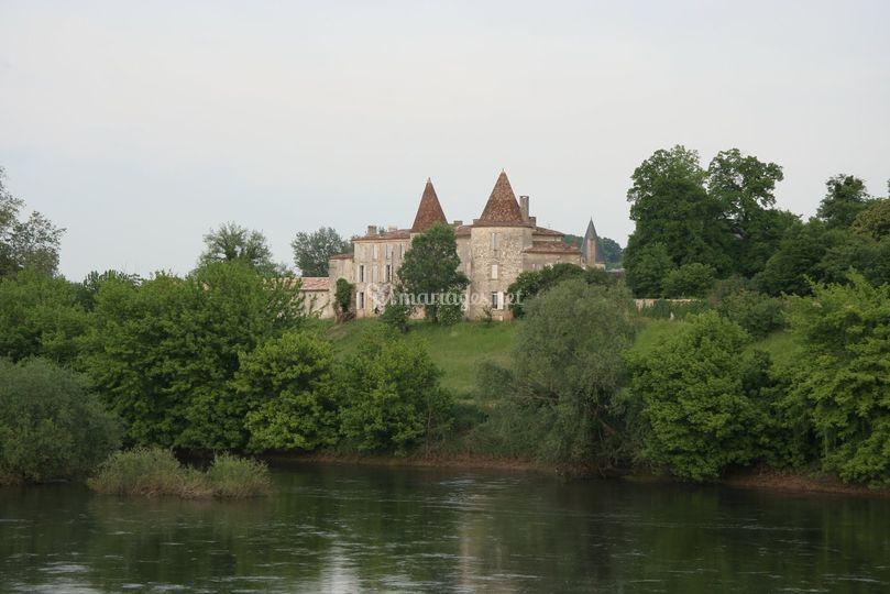 Vue depuis la Dordogne