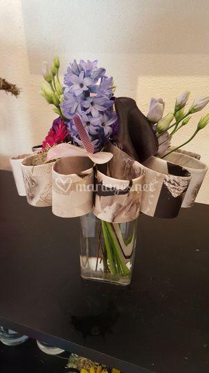 Bouquet structure fleur