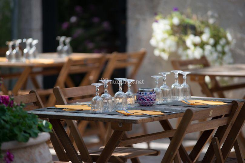 Table en extérieur