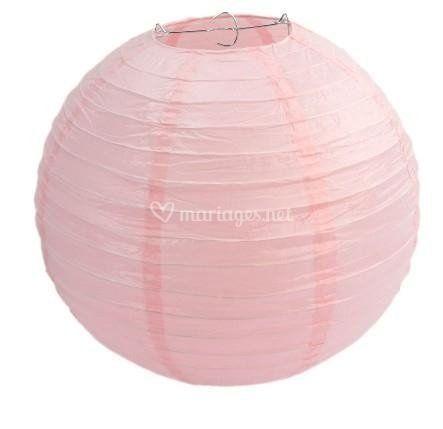 Lanterne papier rose