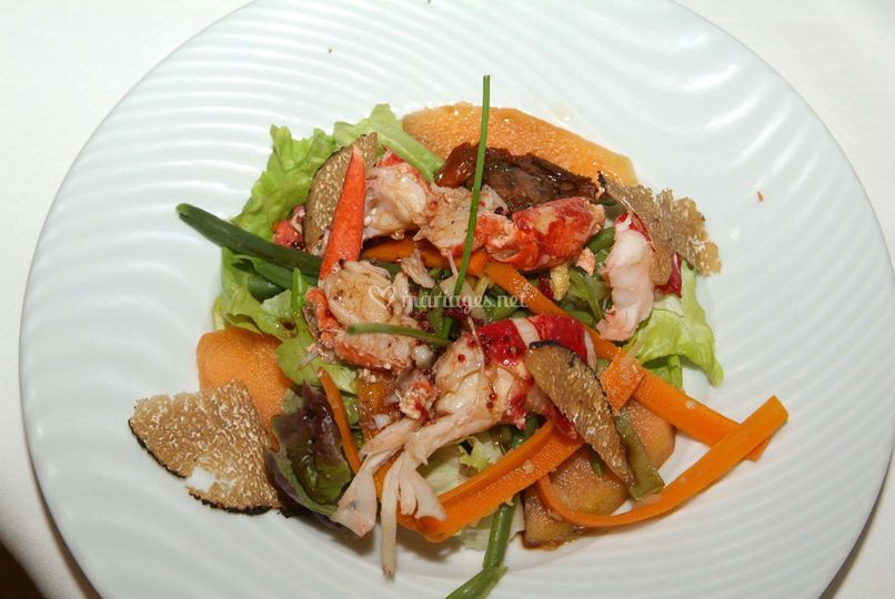 Salade de homard aux truffes