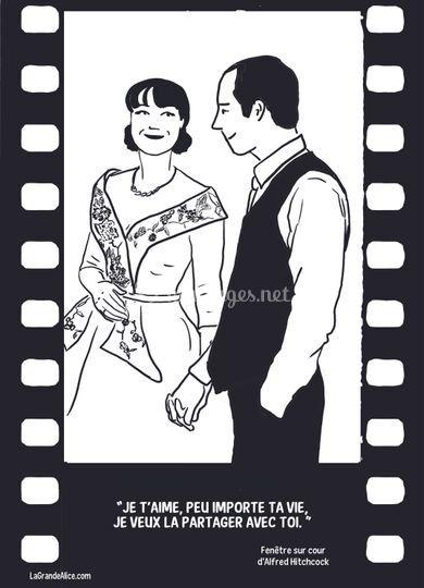 Thème du mariage : cinema
