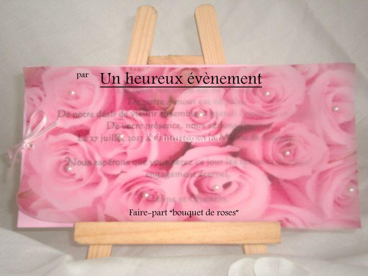 Faire-part Bouquet de roses