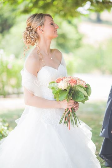Mariée bouquet de fleur