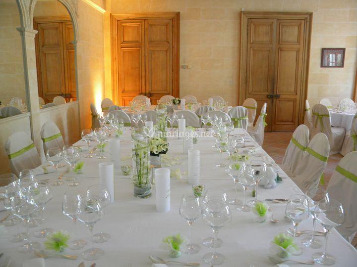 disposition de table possible sur chteau de candie - Chateau De Candie Mariage