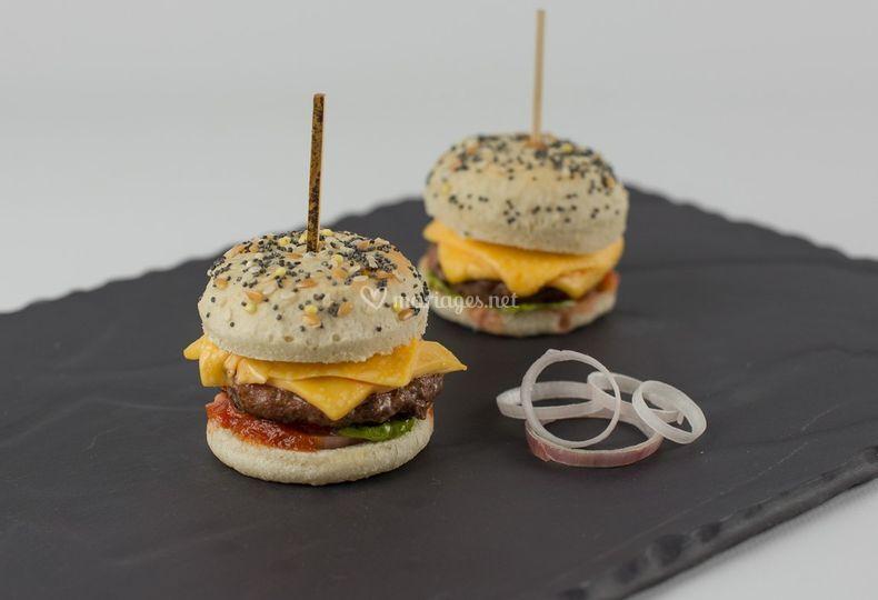 Mini burger gourmand