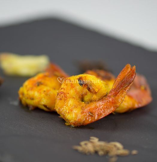Crevettes épicées
