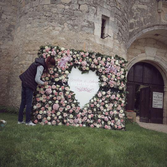 Le mur floral de Bouchra