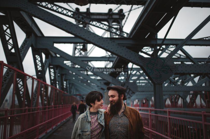 Hipster urbain couple
