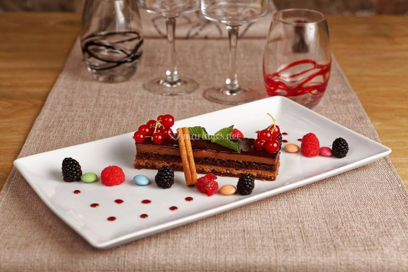 Dessert chocolat fruits rouges