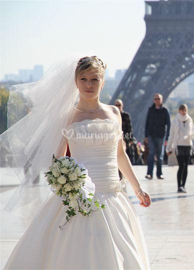 Mariée Tour Eiffel