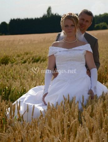 Photo de la mariée et le marié