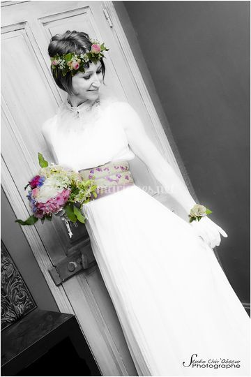 Mariée fleurie