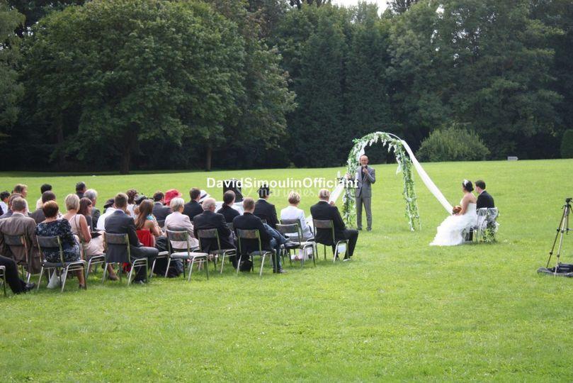 Cérémonie dans un parc