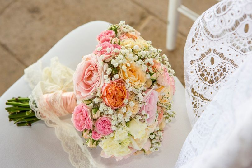Bouquet et dentelle