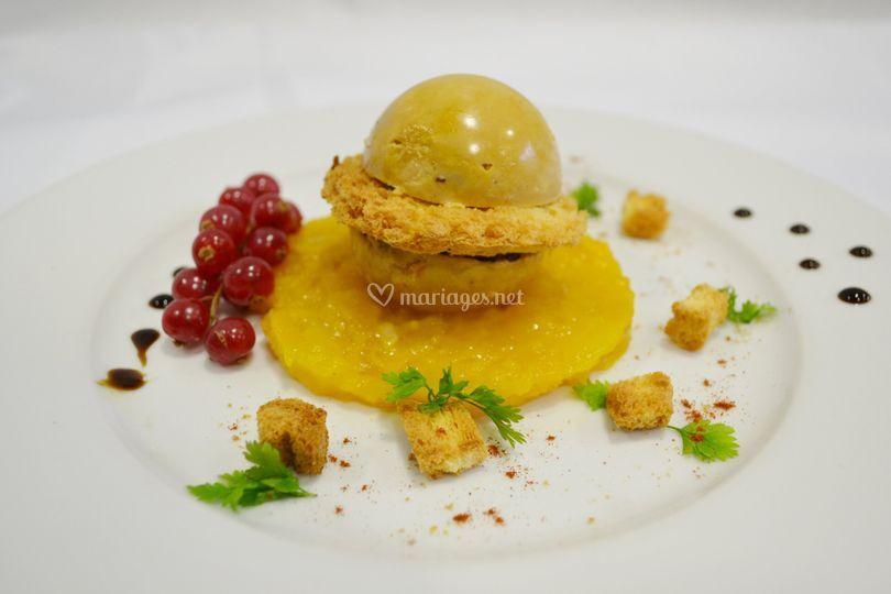 Entrée : Saturne de foie gras