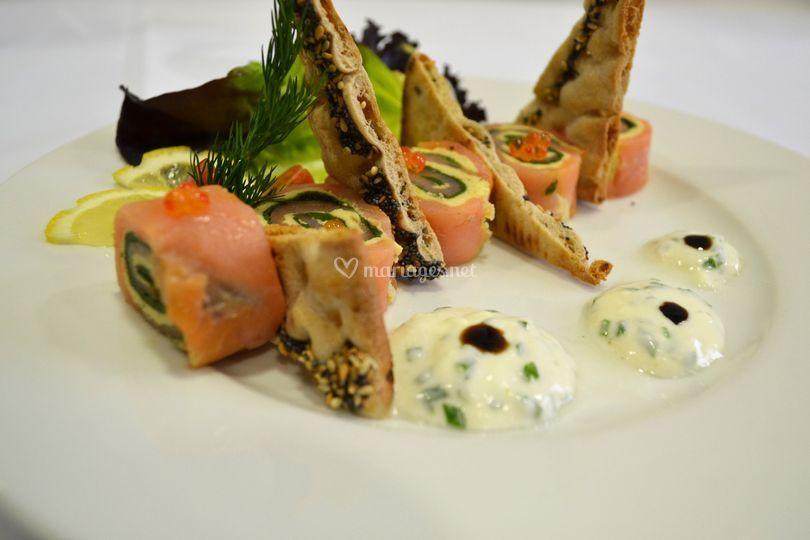 Entrée : Maki de saumon