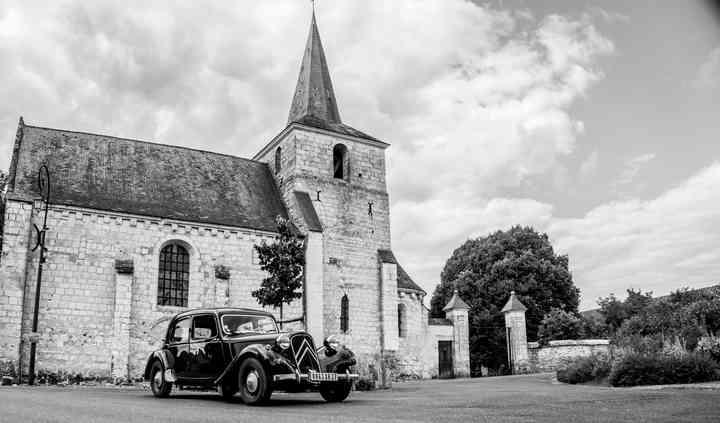 Citroën Traction 11BL 1955 église