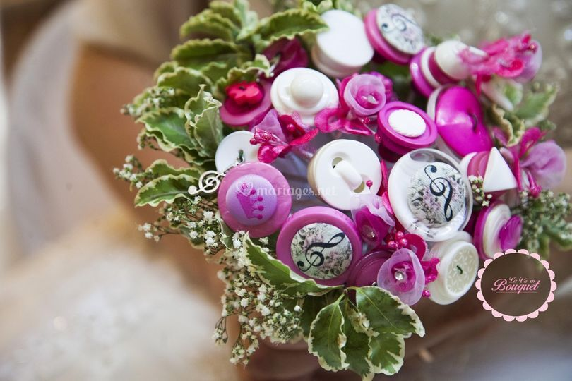 Bouquet boutons théme musicale