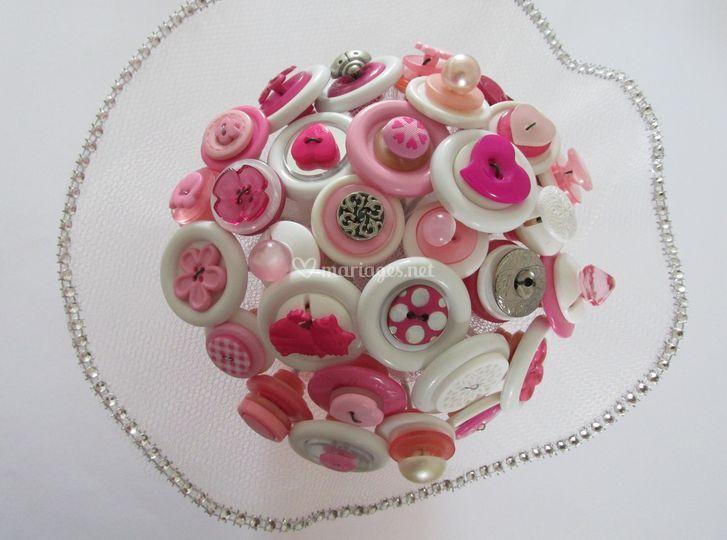 Bouquet boutons et strass