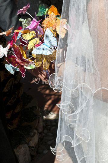 Bouquet papillons multicolor