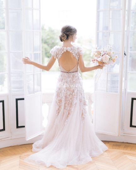 Séance photo de la mariée