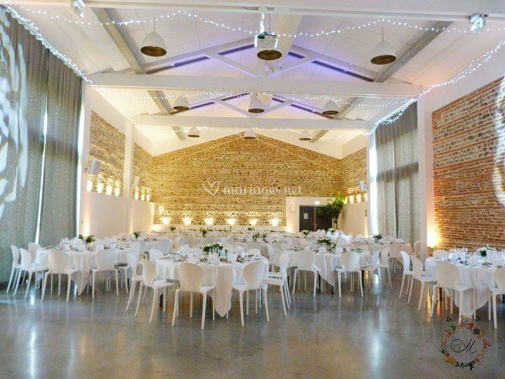Salle de mariage décorée