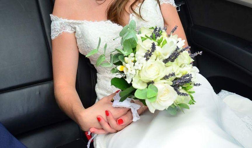 Bouquet de mariée lavande