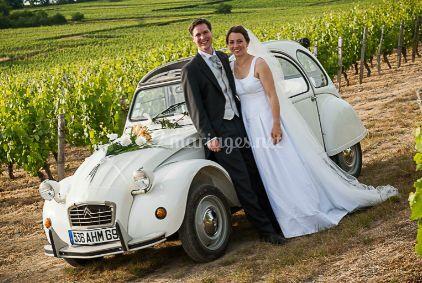 Transport de la mariée et le marié