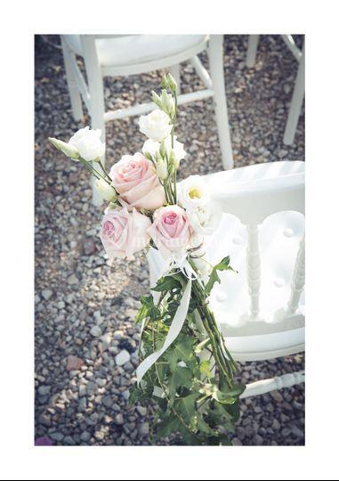 Détail chaise fleurie
