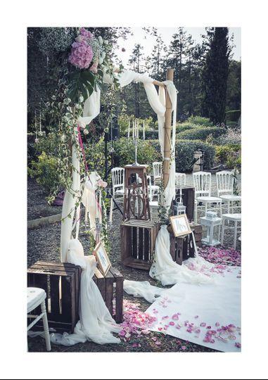 Décoration florale arche