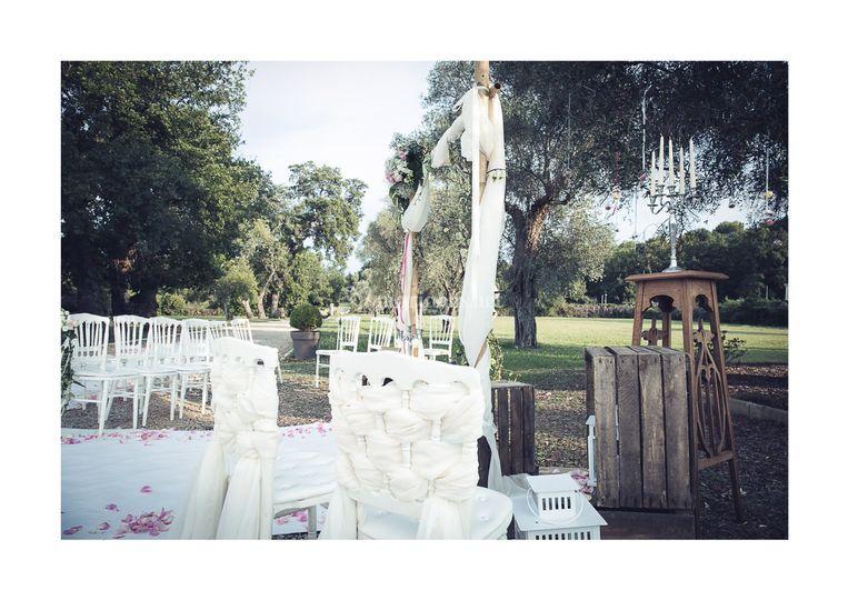 Détail chaise des mariés
