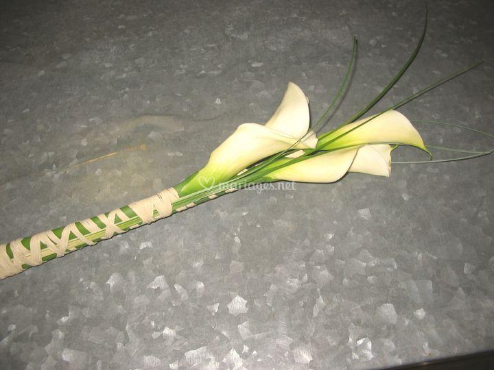 Bouquet mariée simple arum