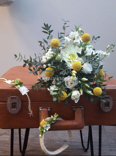 Bouquet de mariée, accessoires
