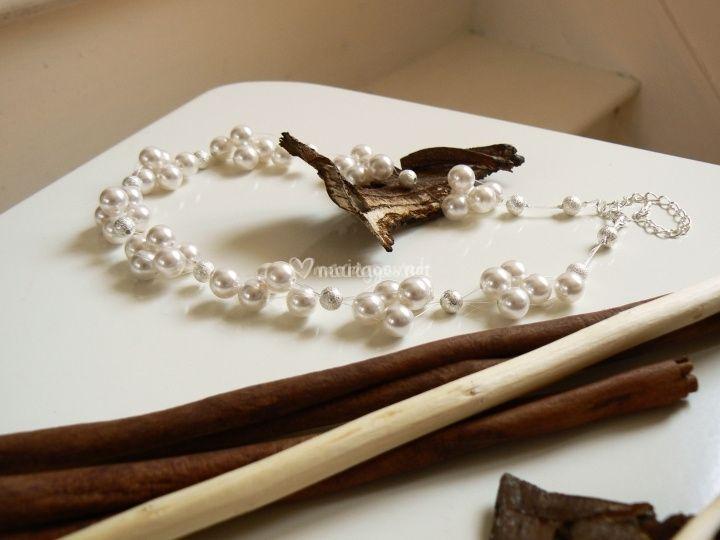 Perles pour les mariees for Robe pour mariage cette combinaison collier perle mariage