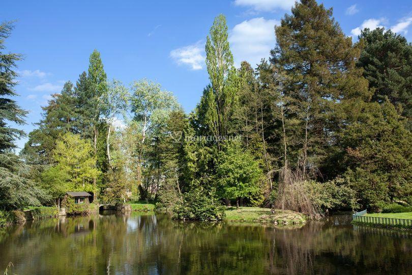 Le plan d'eau dans le Parc