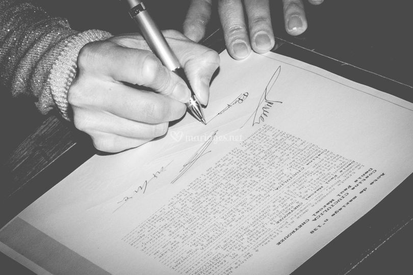 Signature témoin