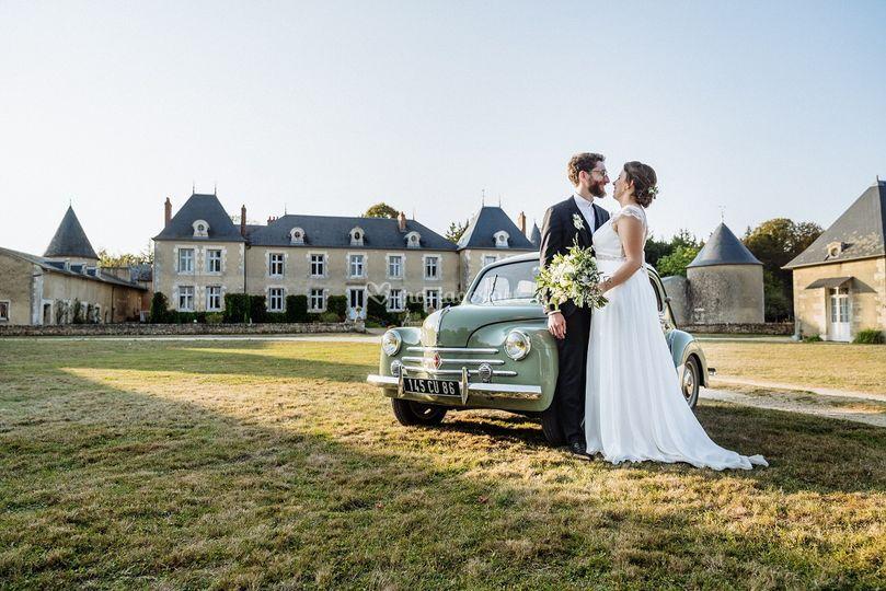 Séance phot couple chateau
