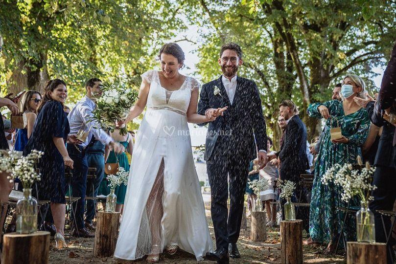 Sortie des mariés lavande