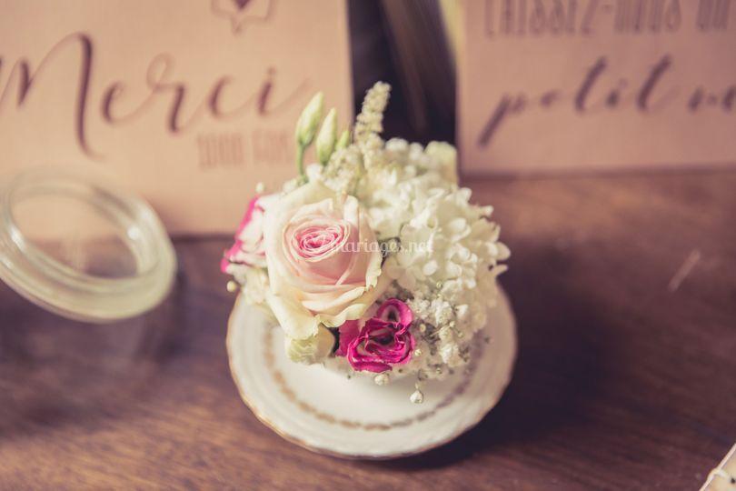 Fleurs table livre d'or