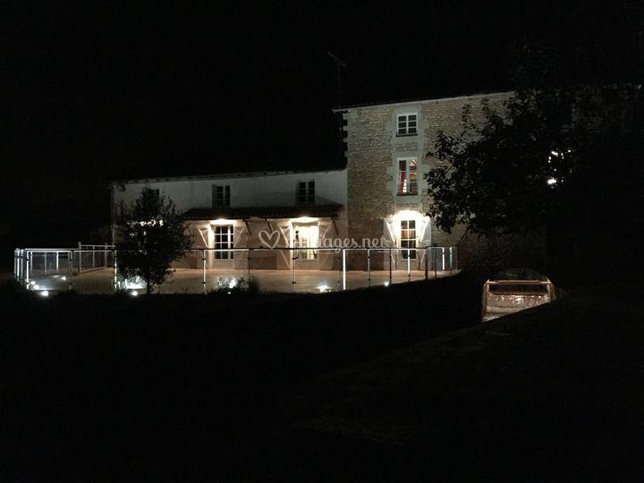 Le Moulin de Trancart de nuit