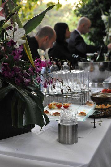 Buffet terrasse