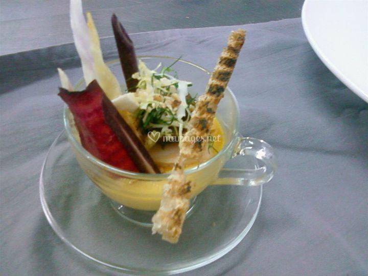 Gaspacho de langoustine